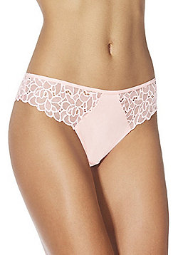 F&F Floral Lace Thong - Coral pink
