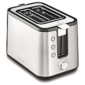Tefal Stainless Steel Prelude 2 Slice Toaster - Silver