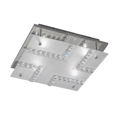 Starlet Ceiling Square 4 Light Polished Chrome/Glass/Crystal