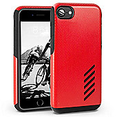 Orzly iPhone 7, iPhone 8 Grip-Pro Case - Red