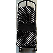 Snuggle Footmuff To Fit I'Candy Buggy Peach Pear Apple Cherry Polka Dot Black