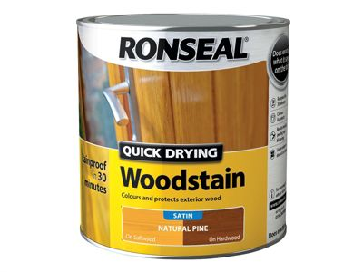 Ronseal Woodstain Quick Dry Satin Natural Pine 2.5 Litre
