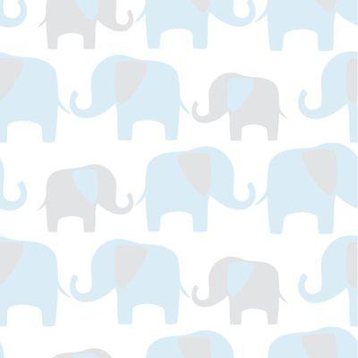 Elephant Parade Blue Wallpaper