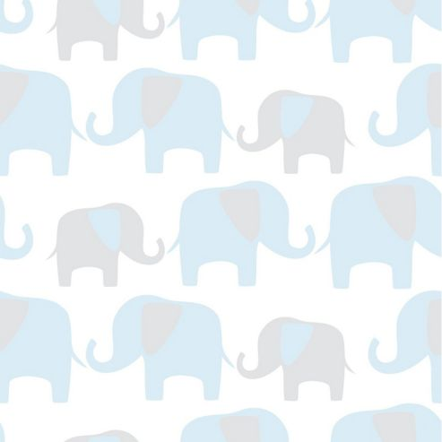 Elephant Parade Blue Wallpaper