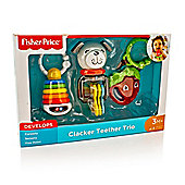 Fisher Price Clacker Baby Teether Trio Set