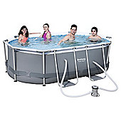 Bestway Power Steel Oval Frame Pool Set