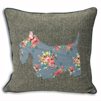 Riva Home Sweet Cottage Scottie Dog Denim Cushion Cover - 45x45cm