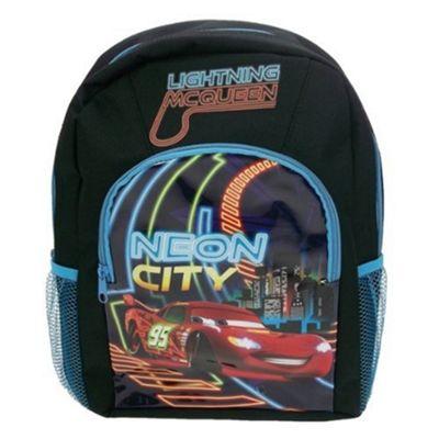 Disney Cars Neon School Bag Rucksack Backpack