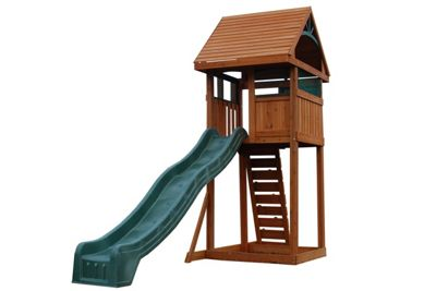 Selwood Bowes Climbing Frame With Rockwall Ladder and Slide