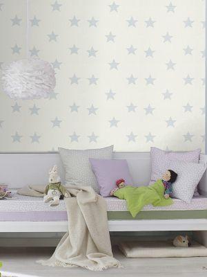 Rasch Star Wallpaper Light Blue and White 245615