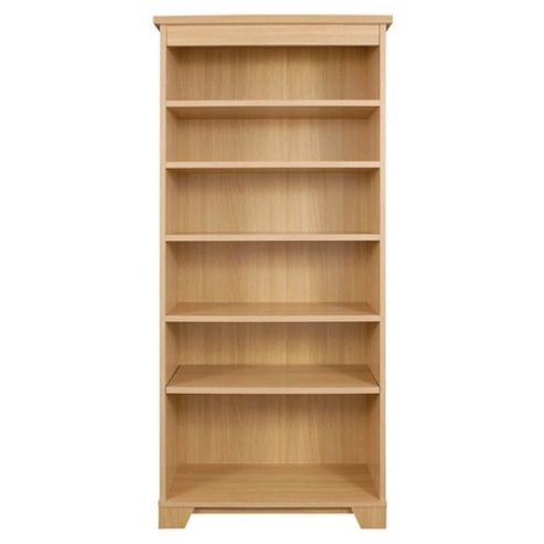 Caxton Sherwood Tall Open Bookcase in Natural Oak
