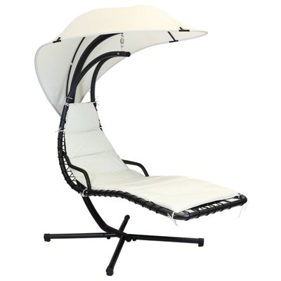 Charles Bentley Outdoor Helicopter Swing Chair - Cream
