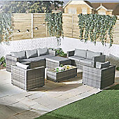 VonHaus 8 Seater Rattan Sofa & Chair Set