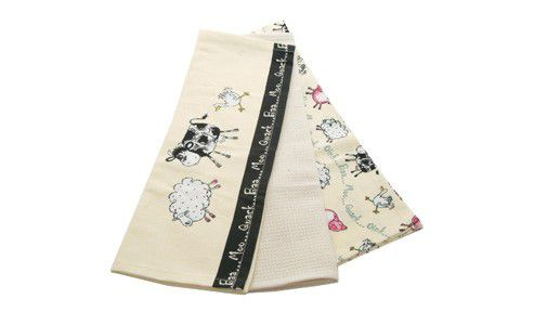Price & Kensington Home Farm Set of 3 Tea Towels