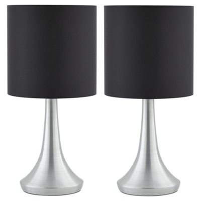 Etonnant 2 Touch Table Lamps   Black