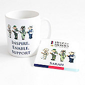 Help for Heroes Personalised Bear Mug and Coaster Set