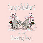 Congratulations On Your wedding day Greetings Card. Gay Same Sex Marriage Card