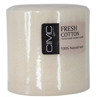 French Cotton Scented Large Pillar Candle