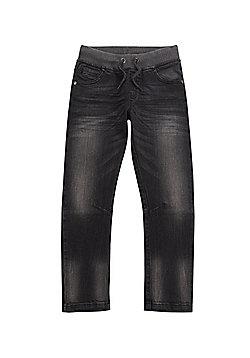 F&F Rib Waist Jeans - Dark grey