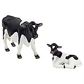 Realistic Holstein Cow and Calf Figurine Toys by Animal Planet