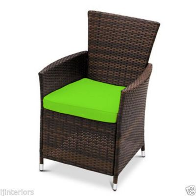Gardenista Seat Pad for Rattan Patio Chair - Lime