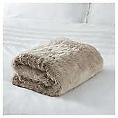 Fox & Ivy Fawn Faux Fur Throw