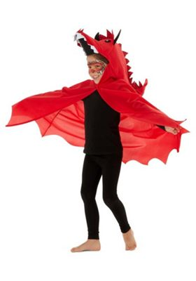 F&F Welsh Dragon St. David's Day Costume Red 3-4 years