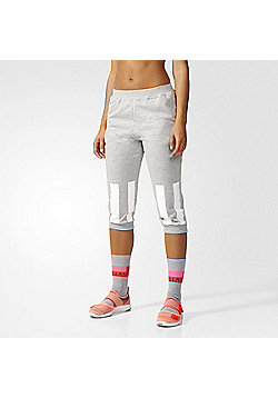 adidas Womens Stella McCartney Short Cropped Sweatpants - Grey