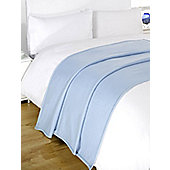 Wholesale 10 x Plain Fleece Blanket Soft Warm Sofa Throw Over 120 x 150cm Joblot - Light blue
