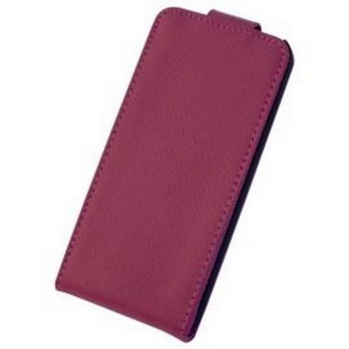 Tortoise™ Genuine Leather Flip Case iPhone 5. Pink