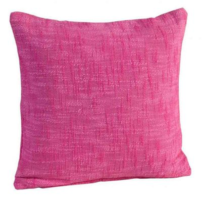 Homescapes Nirvana Cotton Pink Cushion Cover, 45 x 45 cm