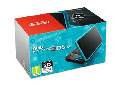 New Nintendo 2DS XL HW Black and Turquoise