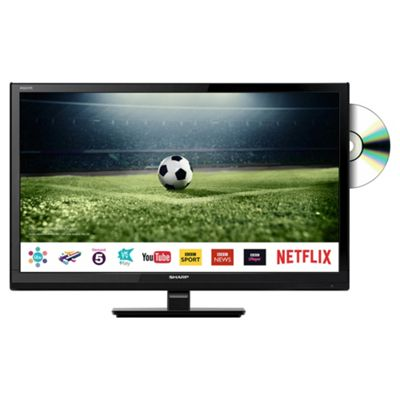Sharp 24Inch HD Ready Smart LED TV with Freeview Play DVD Player USB Media Player and USB PVR