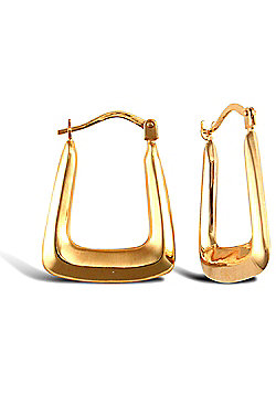 Ladies 9ct Yellow Gold Handbag Creole Earrings