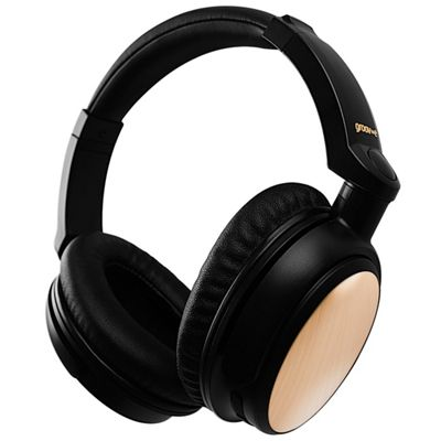 Groov-e GVBT700GD Wireless Headphones with Powerful Sound - Gold