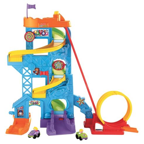Fisher-Price Worlds of Little People Wheelies Loops n Swoops Amusement Park