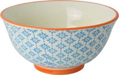 Nicola Spring Patterned Cereal Bowl - 152mm - Blue / Orange Print Design