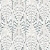 Superfresco Optimum Geometric White/Duck Egg Wallpaper