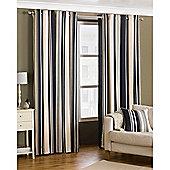 Riva Home Broadway Eyelet Curtains - Black