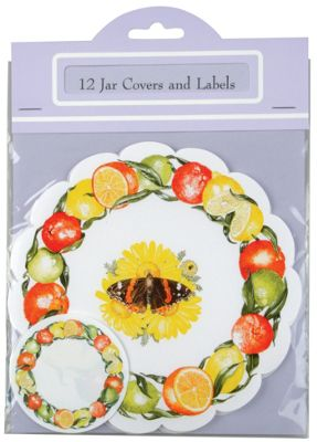 Traditional Marmalade / Curd Jar Cover & Labelling Set, Pack of 12