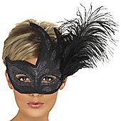 Smiffy's - Ornate Columbina Feather Mask