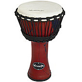 "World Rhythm 12"" Synthetic Red Djembe Drum"