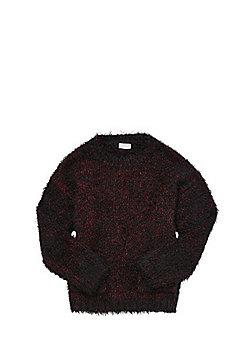 F&F Eyelash Knit Jumper - Black