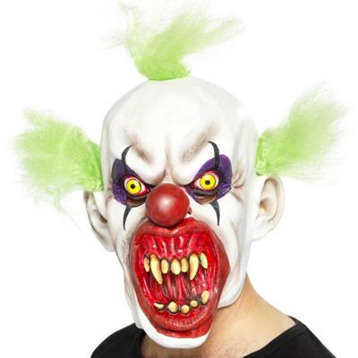 Halloween Clown Mask - Sinister with Hair