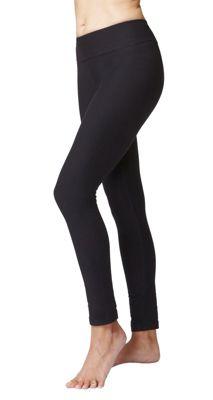 Women's Fitness Roll Top Gym Sports Leggings Black-XS