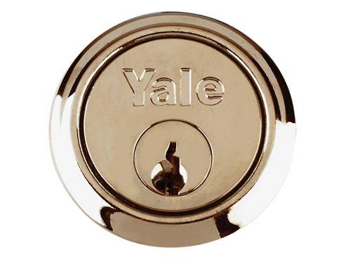 Yale Locks B1109 Replacement Rim Cylinder & 2 Keys Chrome Finish Box