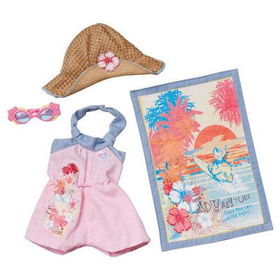 Baby Born Beach Outfit - Pink