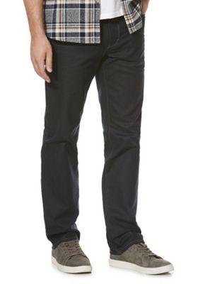 F&F Coated Stretch Straight Leg Jeans 34 Waist 32 Leg Grey