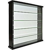Exhibit - Solid Wood 4 Shelf Glass Wall Cabinet - Black