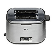 AEG AT7800U 2 Slice Toaster with DigitalVision timer in Stainless Steel